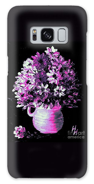 Hot Pink Flowers Galaxy Case
