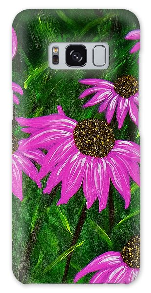 Hot Pink Jungle Galaxy Case by Celeste Manning