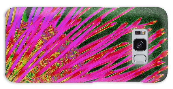 Hot Pink Protea Galaxy Case by Ranjini Kandasamy