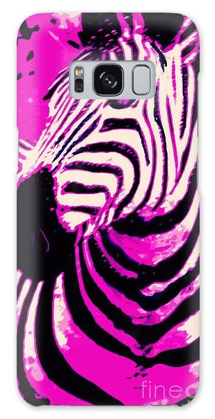 Hot Pink Zebra  Galaxy Case