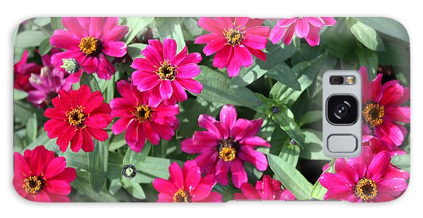 Hot Pink Zinnias Galaxy Case