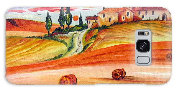Hot Summer Tuscany Sunset Galaxy Case by Roberto Gagliardi