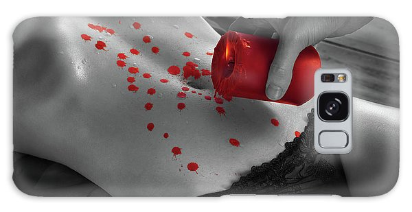 Two People Galaxy Case - Hot Wax Foreplay With Red Candle by Maxim Images Prints