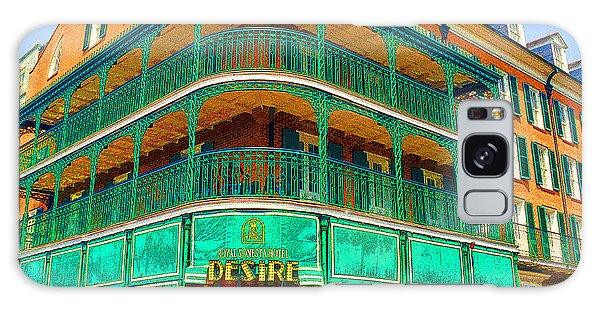 Hotel On Bourbon Street New Orleans Louisiana Galaxy Case by A Gurmankin