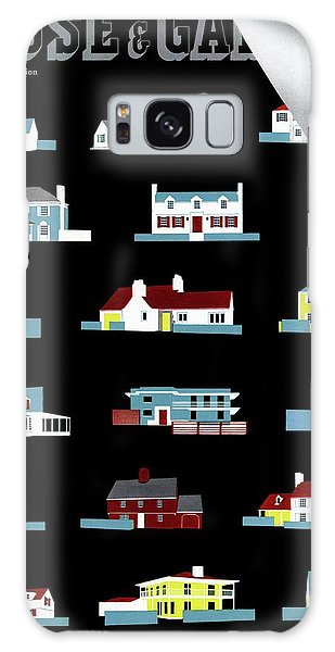 House & Garden Cover Illustration Of 18 Houses Galaxy Case