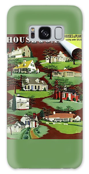 Magazine Cover Galaxy Case - House & Garden Cover Illustration Of 9 Houses by Robert Harrer