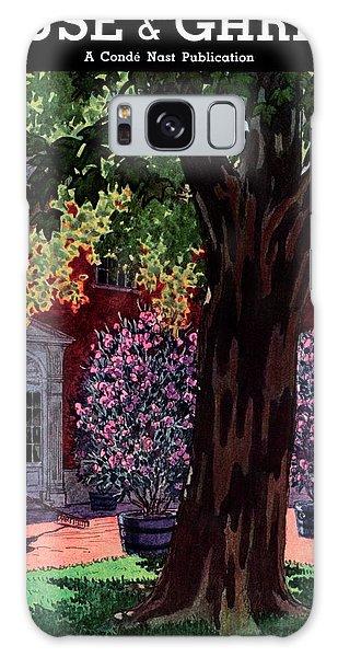 House & Garden Cover Illustration Of A Gardener Galaxy Case