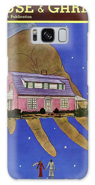 House & Garden Cover Illustration Of A Giant Hand Galaxy Case