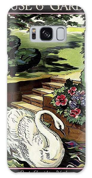 House & Garden Cover Illustration Of A Swan Galaxy Case