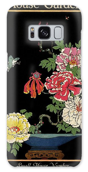 House & Garden Cover Illustration Of Peonies Galaxy Case