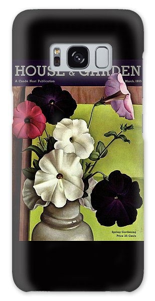 House & Garden Cover Illustration Of Petunias Galaxy Case