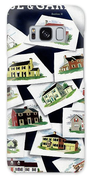 House & Garden Cover Illustration Of Various Homes Galaxy Case
