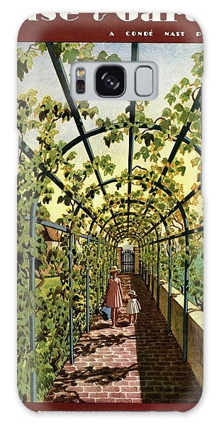 House & Garden Cover Illustration Of Young Girls Galaxy Case