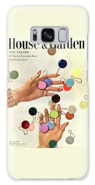 Magazine Cover Galaxy Case - House & Garden Cover Of Woman's Hands With An by Herbert Matter