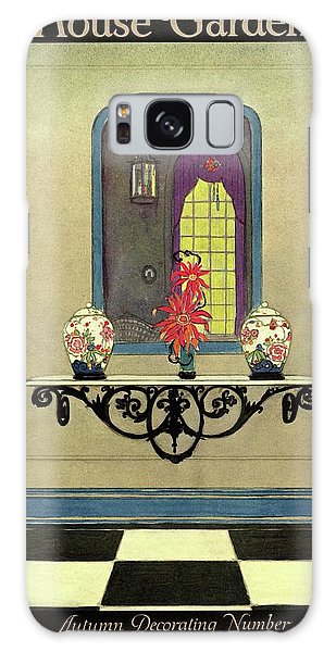 Vase Of Flowers Galaxy Case - House And Garden Autumn Decorating Number Cover by H. George Brandt