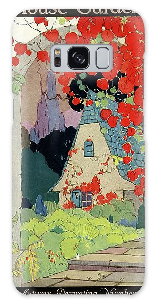 House And Garden Autumn Decorating Number Galaxy Case