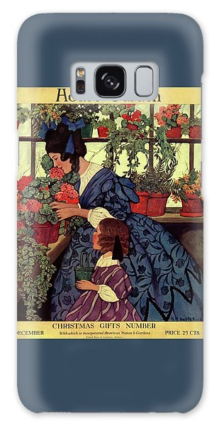Gardenia Galaxy Case - House And Garden Christmas Gift Number Cover by Ethel Franklin Betts Baines