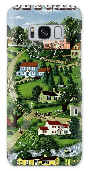 House And Garden Cover Featuring An Illustration Galaxy Case