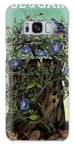 House And Garden Cover Featuring Flowers Growing Galaxy Case