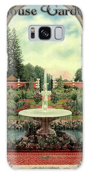 Brookside Gardens Galaxy Case - House And Garden Cover by Herbert Angell