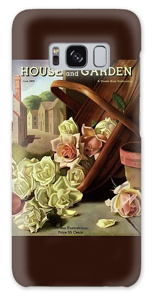 Magazine Cover Galaxy Case - House And Garden Cover Of An Upturned Basket by John C. E. Taylor