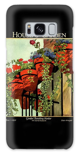 Magazine Cover Galaxy Case - House And Garden Garden Furnishing Number Cover by Ethel Franklin Betts Baines