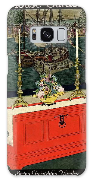 Vase Of Flowers Galaxy Case - House And Garden Spring Furnishing Number Cover by Lurelle Guild