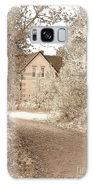 Brick House Galaxy Case - House In Autumn by Blink Images