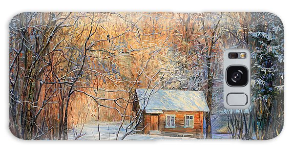 House In The Winter Forest  Galaxy Case