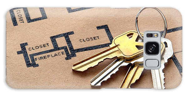 Recycle Galaxy Case - House Keys On Real Estate Housing Floor Plans by Olivier Le Queinec