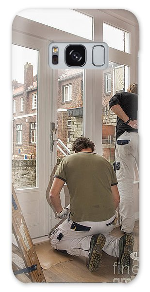 It Professional Galaxy Case - House Painters At Work by Patricia Hofmeester