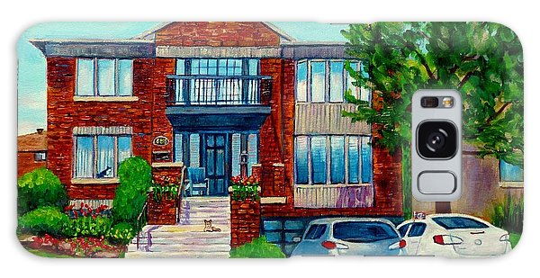 House Portrait-house  Art-commissioned  Montreal Paintings-carole Spandau Galaxy Case
