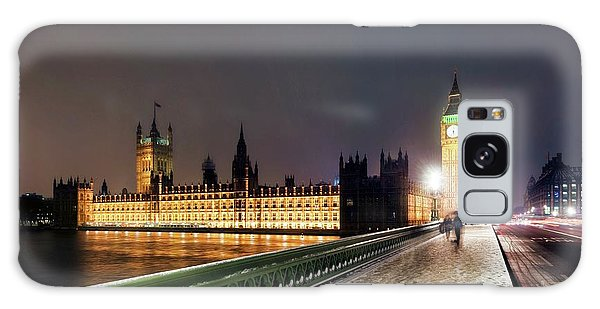 Houses Of Parliament Galaxy Case - Houses Of Parliament And Big Ben by Daniel Sambraus/science Photo Library