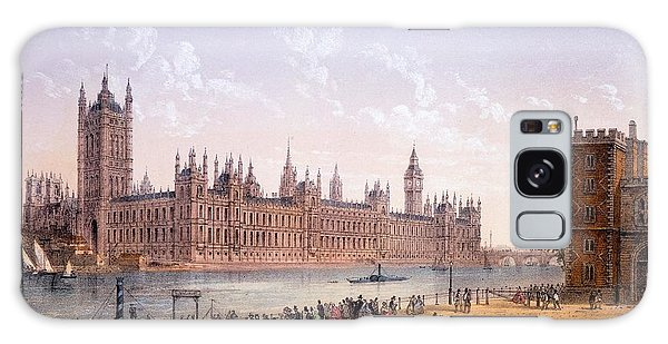 Houses Of Parliament Galaxy Case - Houses Of Parliament From The South by Achille-Louis Martinet