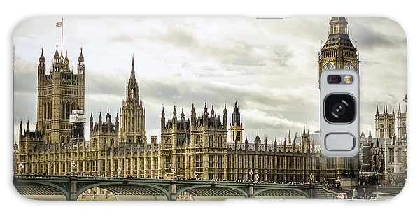 Houses Of Parliament On The Thames Galaxy Case by Heather Applegate