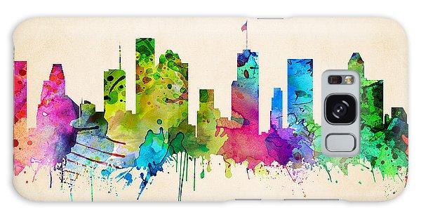 Houston Cityscape Galaxy Case