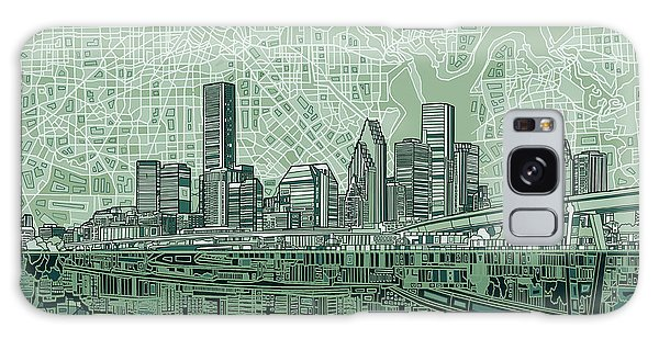 Houston Skyline Abstract 2 Galaxy Case