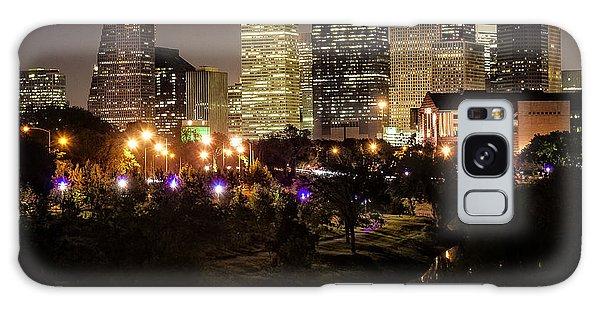 Houston Skyline From Buffalo Bayou Galaxy Case