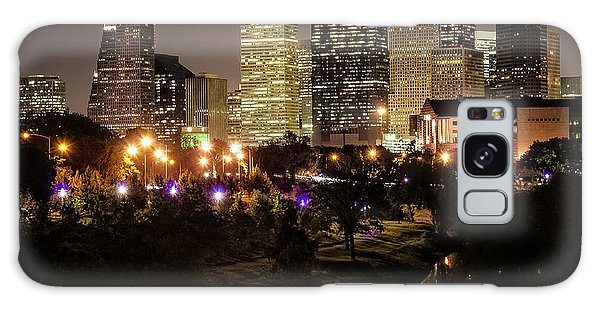 Houston Skyline From Buffalo Bayou Galaxy Case by Andy Crawford