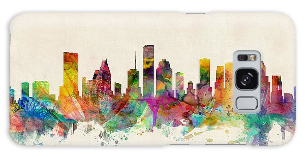 Poster Galaxy Case - Houston Texas Skyline by Michael Tompsett