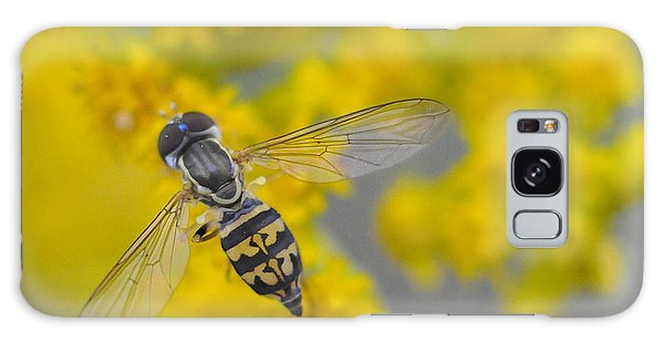 Hover Fly On The Goldenrod Galaxy Case