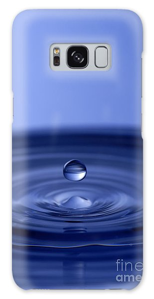 Hovering Blue Water Drop Galaxy Case