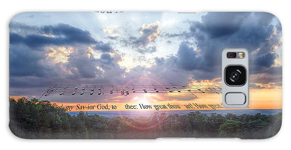 How Great Thou Art Sunset Galaxy Case by D Wallace