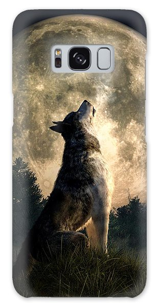 Howling Wolf Galaxy Case by Daniel Eskridge