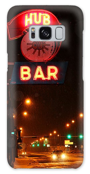 Hub Bar Snowy Night Galaxy Case