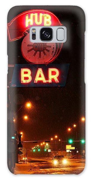Hub Bar Snowy Night Galaxy Case by Sylvia Thornton