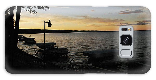 Hubbard Lake Sunset Galaxy Case by Gary Wonning