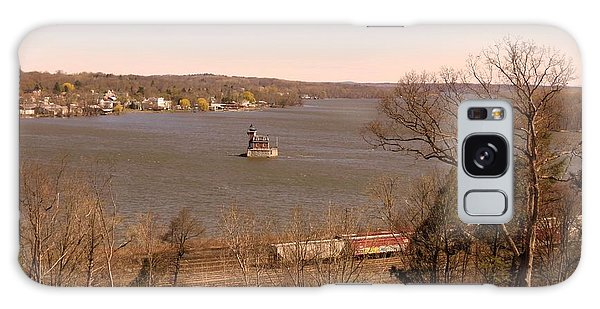 Hudson Train And Lighthouse Galaxy Case