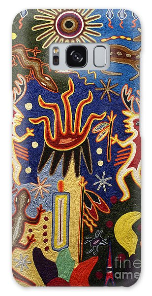 Huichol Yarn Painting Mexico Galaxy Case