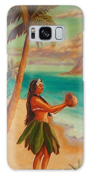 Hula Aloha Galaxy Case by Janet McDonald